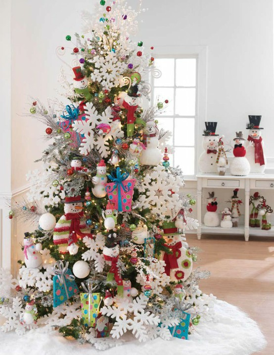 snowflaked tree